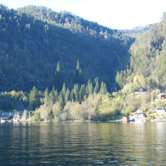 Maisons au bord de l'eau de l'Osterfjord