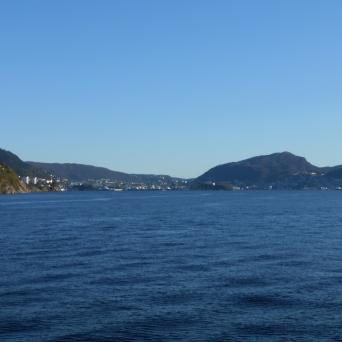 Bergen depuis la mer