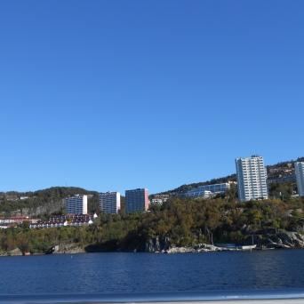 Immeubles au bord de l'Osterfjord